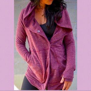 Lululemon Find Your Centre Wrap hoodie burgundy